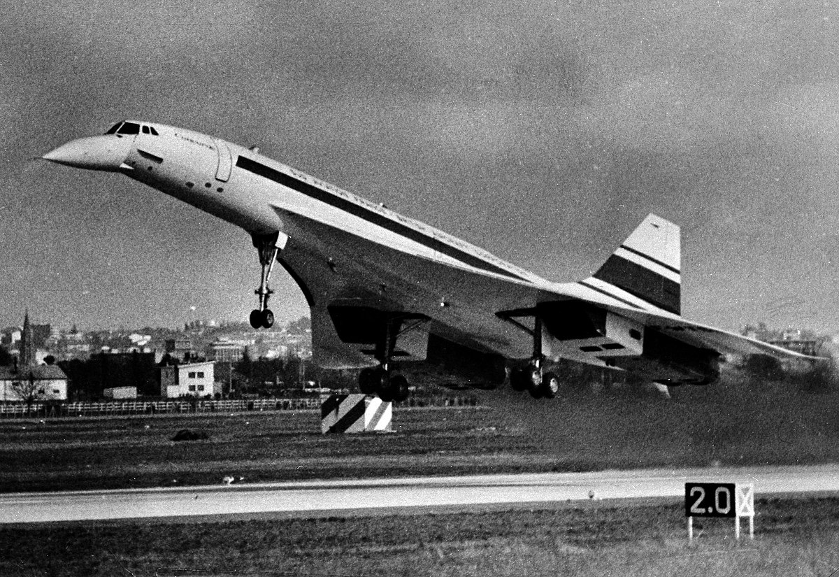 Raná fáze letů Concorde.