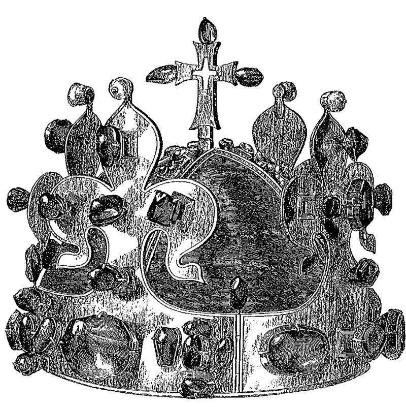 Vyobrazení koruny z roku 1857.
