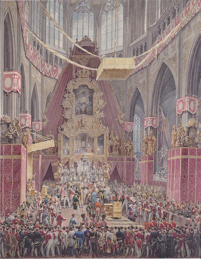 Z korunovace Ferdinanda I. českým králem.