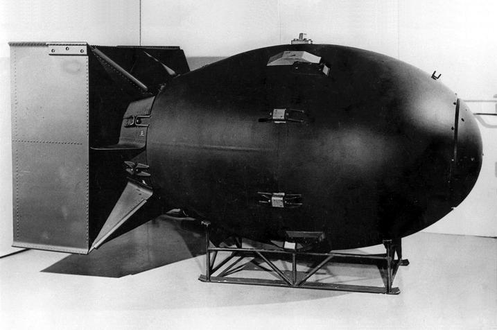 Model atomové pumy Fat Man.