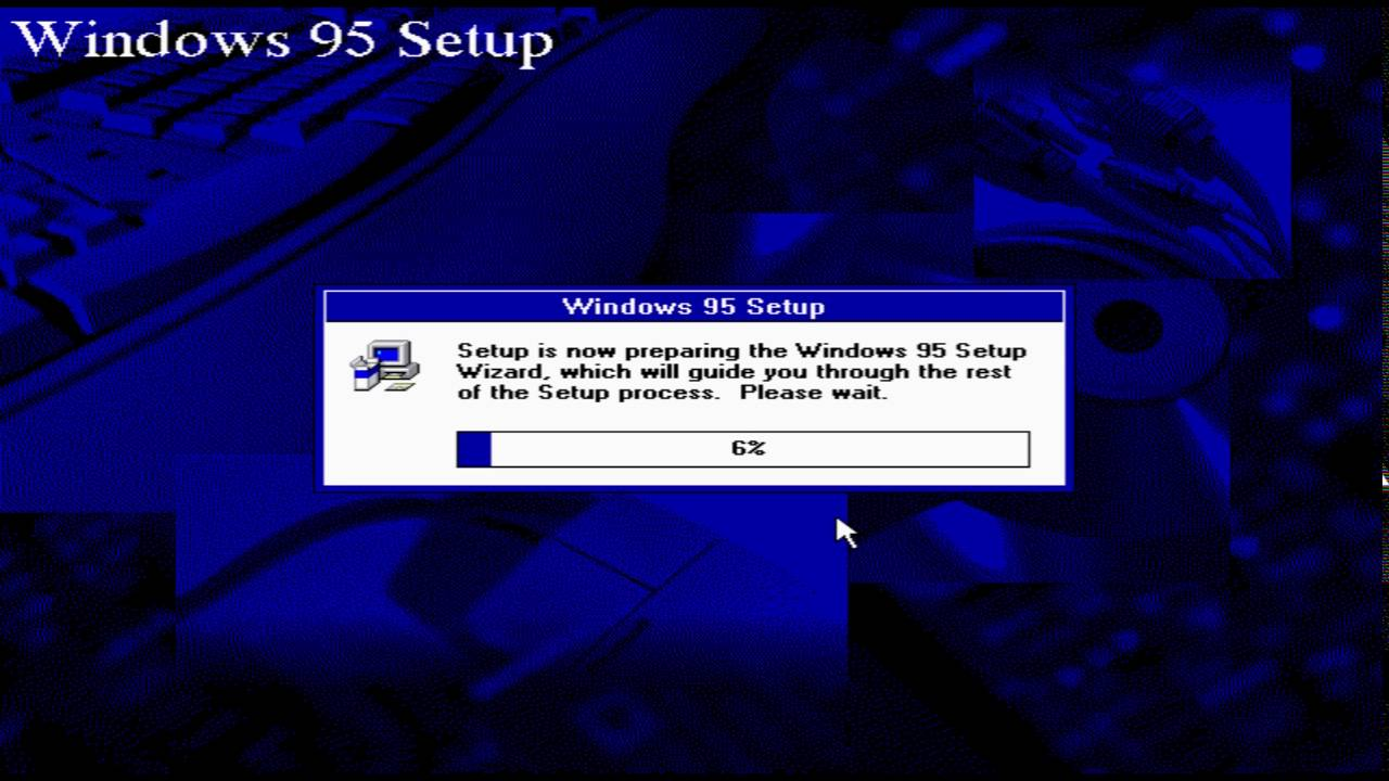 Instalace Windows 95