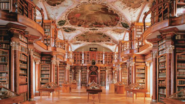abbey library st gallen švýcarsko