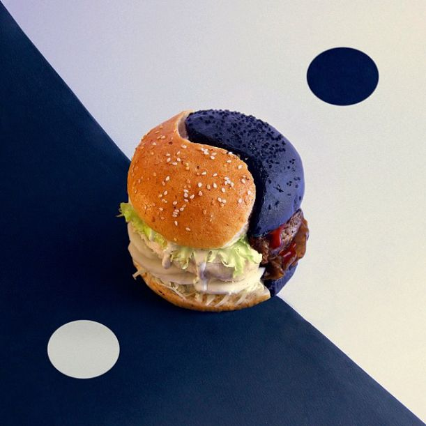 black or white burger