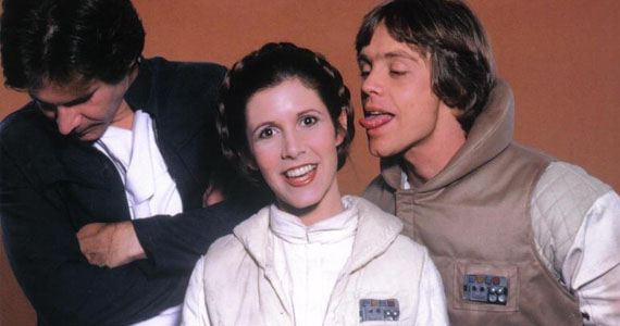 Mark-Hamill-Carrie-Fisher-Harrison-Ford-Goofing