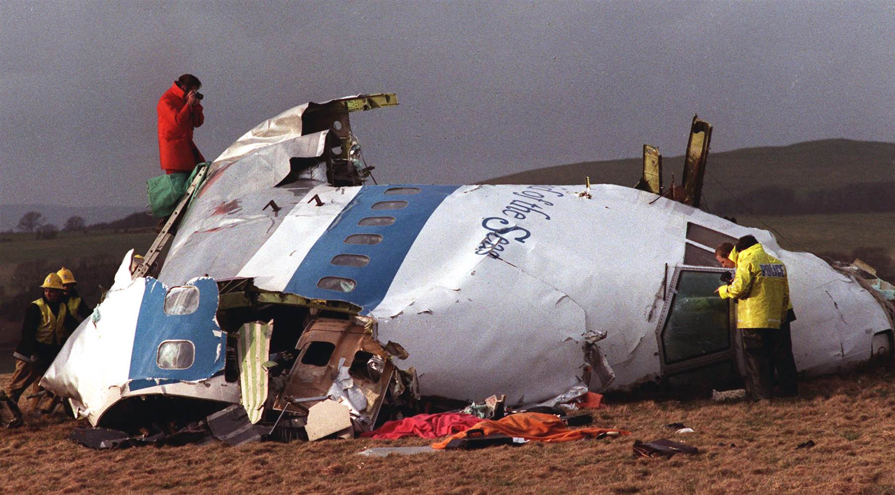 Trosky letadla PanAm v Lockerbie