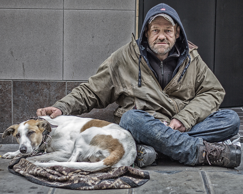 Pes bezdomovce je sám bezdomovcem