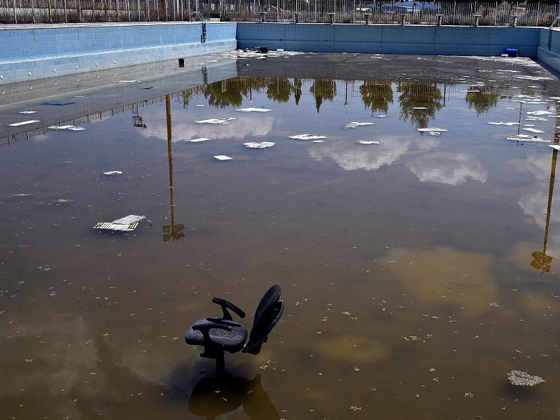 Bazén, který sloužil při Olympijských hrách 2004, je dnes občany využíván k odpočinku a relaxaci.