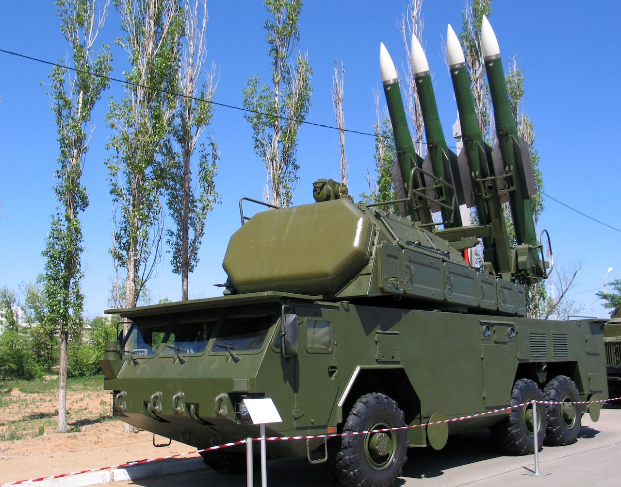 Protiletadlový systém Buk má čtyři rakety