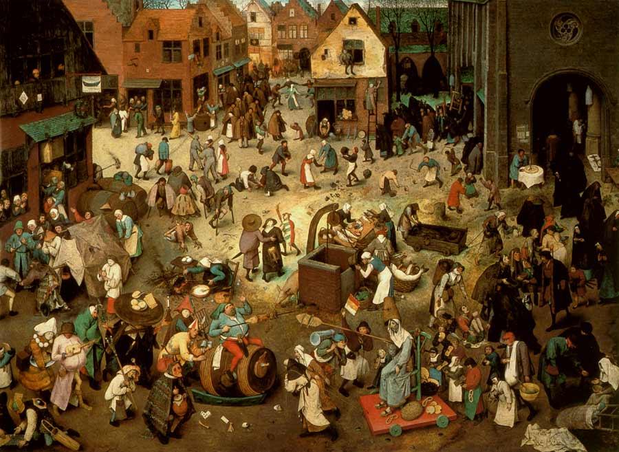 Pieter Bruegel starší: Boj mezi karnevalem a půstem (1559)