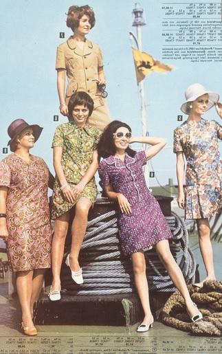 Dederonové šaty ve východoněmeckém katalogu z roku 1971