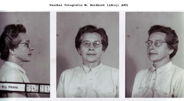 Vazební fotografie Milady Horákové. Odolala nacistickému i komunistickému mučení a na smrt kráčela s hlavou vztyčenou.