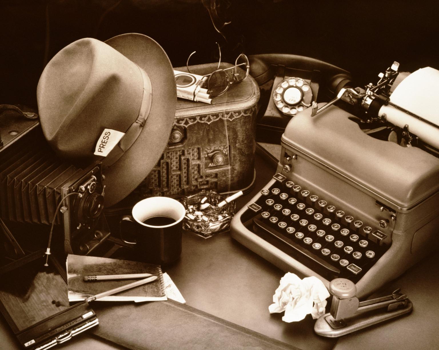 Představa o novináři z předminulého století