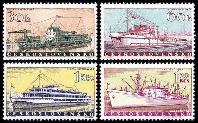V roce 1960 se loď Lidice objevila na poštovních známkách.