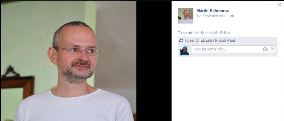 Martinův profil na FB