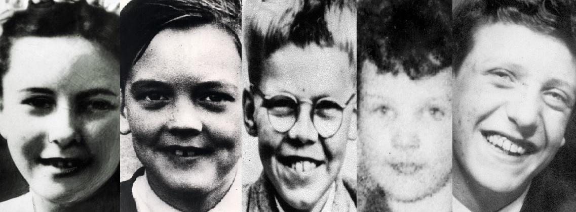 Pětice dětí, jejichž vraždy se podařilo vrahům z močálů přiřknout a dokázat.