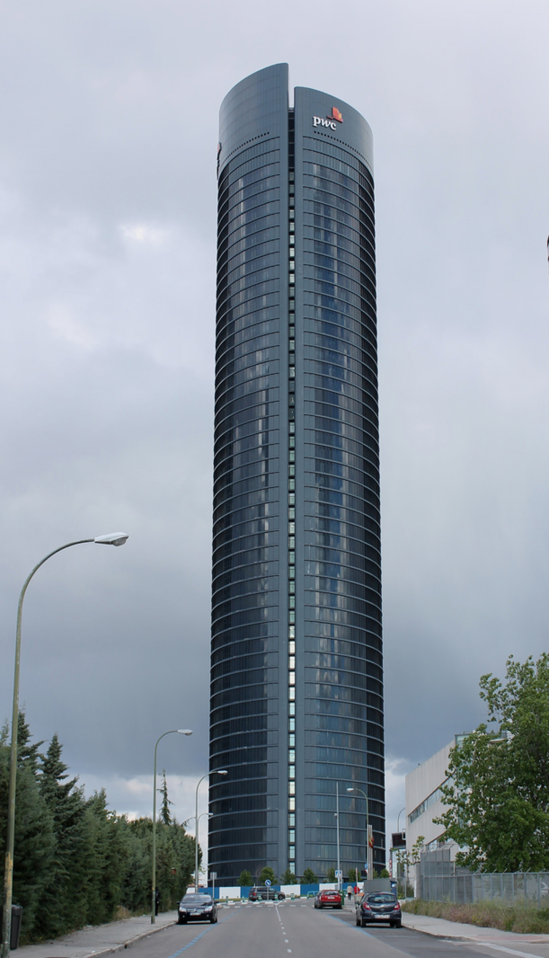 PwC Tower in Cuatro Torres Business Area in Madrid (Spain).