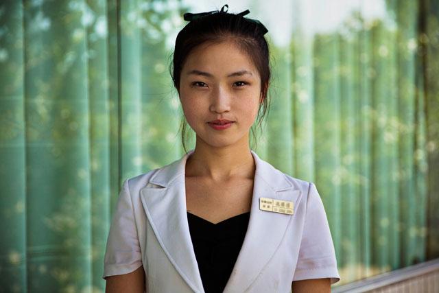 Servírka v Pchjongjangu
