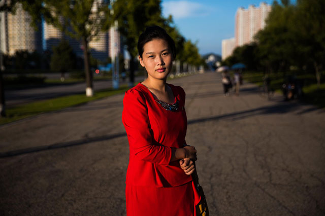 Jeden ze širokých pchjongjanských bulvárů