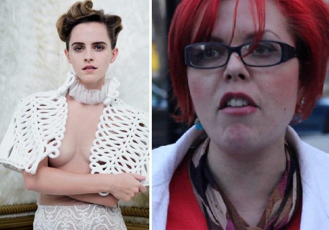 Emma Watson se vyfotila s poloodhalenými prsy, čímž rozzuřila některé samozvané feministky do ruda.