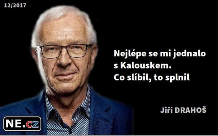 Lež, ve které Jiří Drahoš chválí Miroslava Kalouška je vytržena z kontextu a  citát má jiný význam než se zdá.