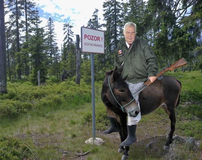 Vrchní velitel ozbrojených sil vyrazil na zteč na své mule a ztratil se v lesích.