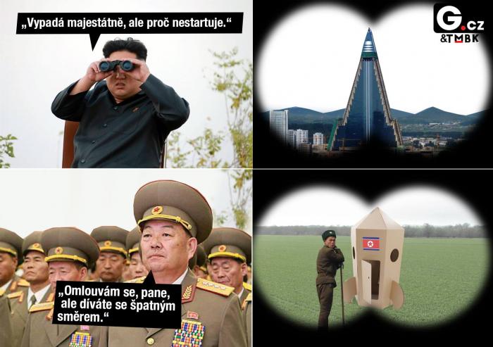 Zkoušky balistických raket nejsou nikterak opulentní. Co postrádají na účinku, to dohání Severokorejci nadšením