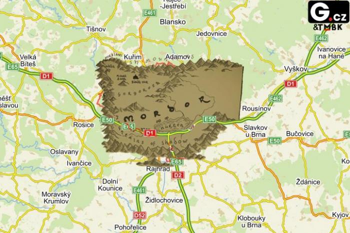 Takto už Brno na mapách nikdy neuvidíte. Do konce týdne má být oficiálně odstraněno ze všech map a provizorně na jeho místě bude jen bílý flek