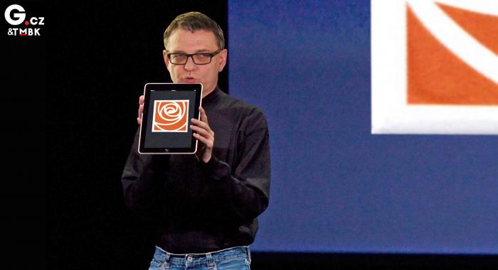 Velký vizionář Zaorálek představuje nové logo ČSSD