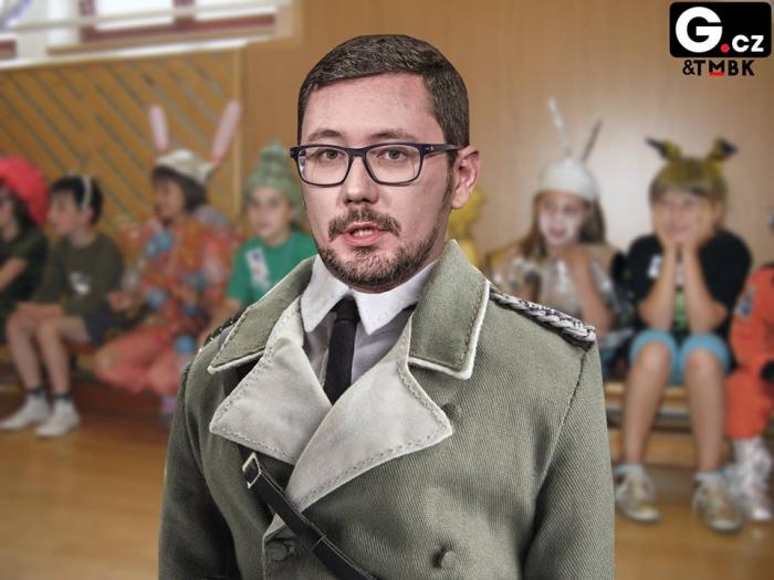 Jako Himmlerův dvojník se Ovčáček jistě někde upíchne