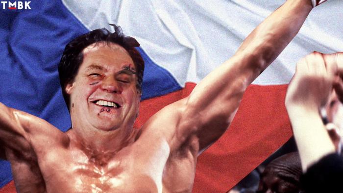 Dojatý Miloš Zeman si po vítězství vychutnával ovace diváků.