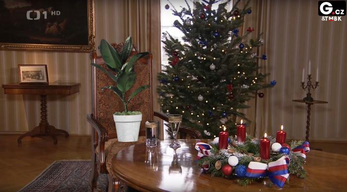 Vánoční poselství prezidenta fíkusu by byla jistě příjemná změna