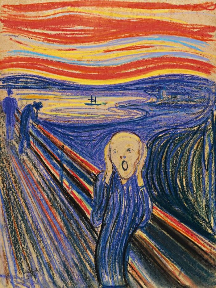 Tohle není obraz od Gotta, ale Munchův Výkřik. Přesně ale vyjadřuje zděšení z vědomí, že i Mistr je smrtelný.