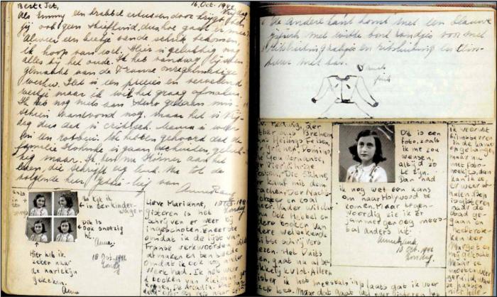 Díky deníku, který si v úkrytu vedla, zná osud Anny Frankové celý svět. Deník po její smrti vydal Annin otec Otto, který jako jediný přežil holokaust.