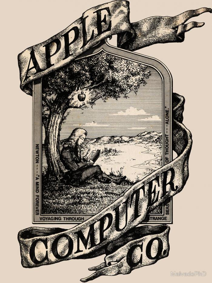 Ačkoli Wayne setrval v Applu jen 10 dní, stačil nakreslit první logo společnosti.