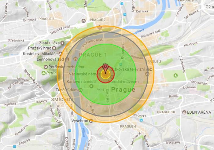 Kdyby na Prahu byla svržena atomová bomba o síle té použité v Hirošimě, byl by s naším hlavním městem, tak jak ho známe, konec.