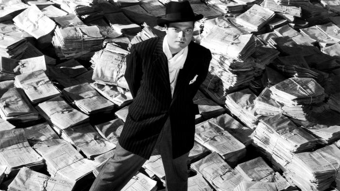 Orson Welles ve svém nesjlavnějším filmu Občan Kane