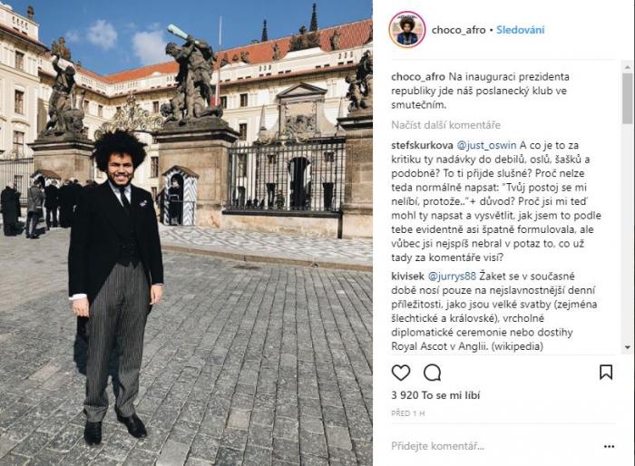 Instagramový příspěvek Dominika Feriho krátce před začátkem akce.