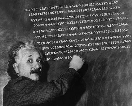 Překvapuje vůbec někoho, že Albert Einstein se narodil na světový den čísla Pí?