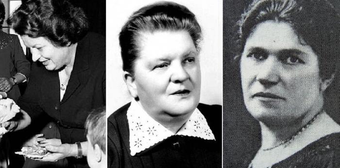 Božena Novotná, Marie Zápotocká a Anna Baťová - ženy, podle kterých se Jarmilky nejmenují.