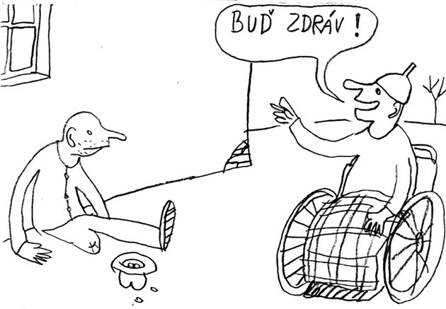 Tenhle vtip nakresil Michal Hrdý. A pak umřel.