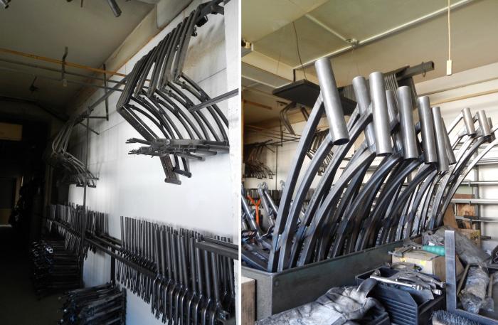 Při ohýbání kovu do požadovaného úhlu kluci musí postupovat pomalu a používají velkou řadu nástavců - kdyby železné pruty ohnuli příliš rychle, mohly by se zdeformovat