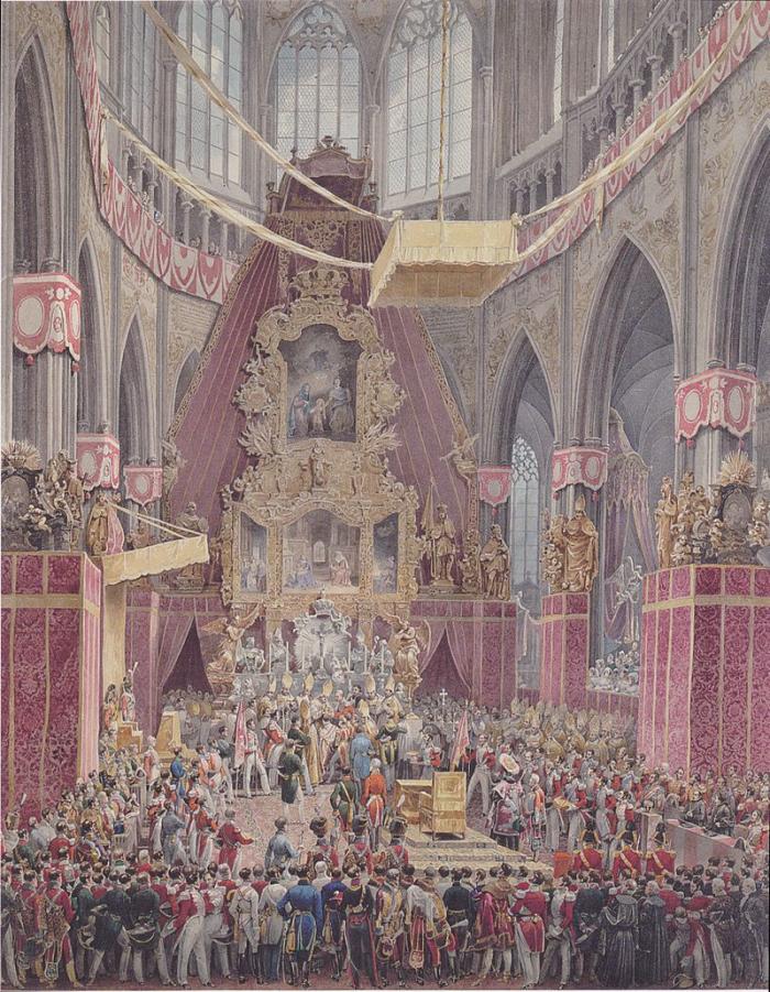 Korunovace Ferdinanda I. jako českého krále Ferdinanda V. v katedrále sv. Víta byla velkolepou událostí. Bylo to naposledy, co měl kdo svatováclavskou korunu 'legálně' na hlavě.