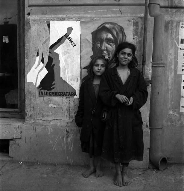 Děti bez domova, Budapešť, Maďarsko, rok 1946.