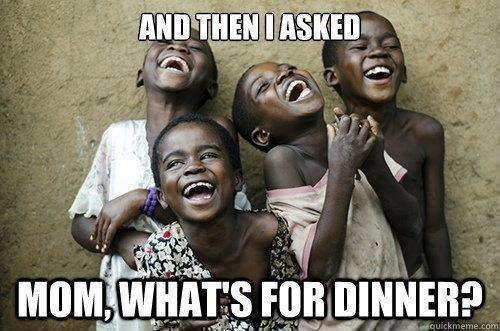 """""""...a pak jsem se zeptal: ¨Mami, co bude k večeři?¨"""""""