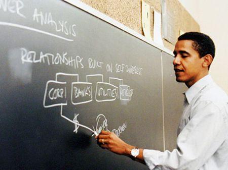 Než se dal na dráhu politika, živil se Obama jako právník. O lidských právech přednášel i na univerzitách.