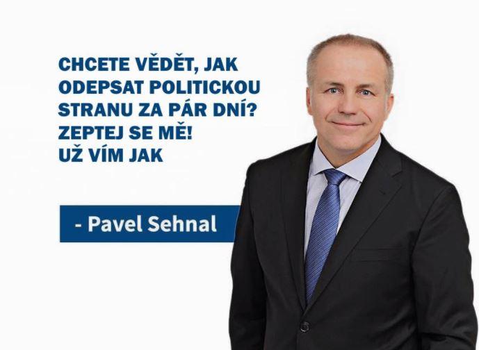 Pavel Sehnal se poučil z toho, že zaštiťovat se internetovými šmelináři se nevyplácí.