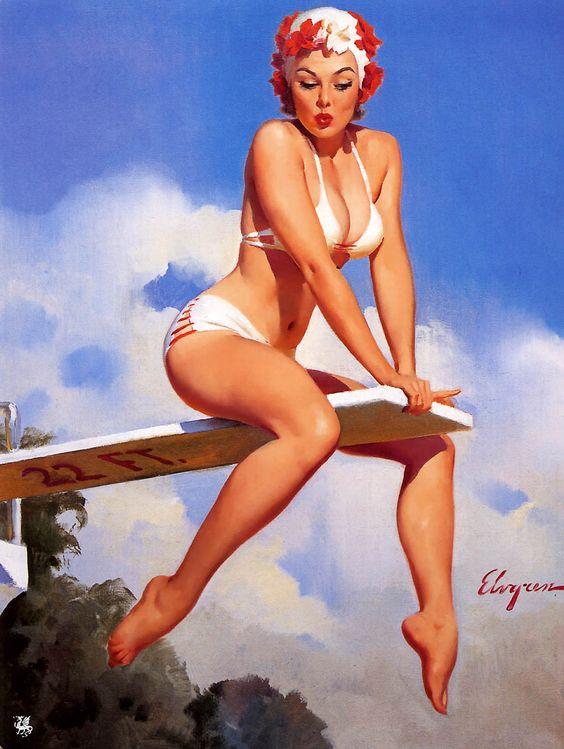 Pin-up girl se vyznačovaly útlým pasem, plnými ňadry a na většině fotografií byly buď s širokým úsměvem, nebo našpulenými rtíky, které měly vždy červenou barvu.
