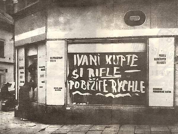 Vrchol českého odboje - počmárat výlohu