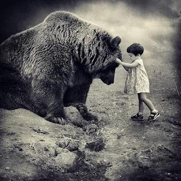 Holka si od babičky dotáhla domů medvěda grizzlyho. Bydlíme v garsonce a medvěd nám tu dost překáží. Dělá bordel, neposlouchá a už týden postrádám manželku a dceru. Zbylo po nich jen krvavé oblečení a kus nohy. Asi mě opustili.