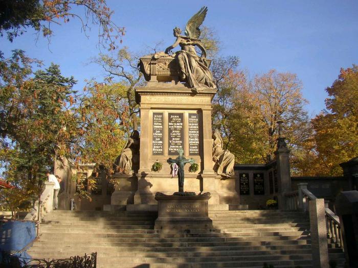 Společná hrobka národních velikánů na Slavíně